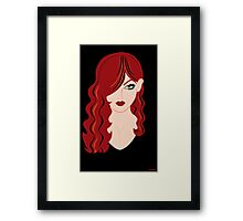 Red Haired Woman Framed Print
