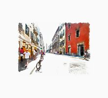 Teramo: street with people and bicycle Classic T-Shirt