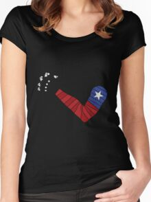 American Solider Arm Women's Fitted Scoop T-Shirt