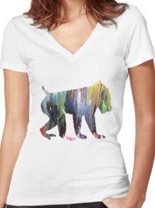 Mandrill  Women's Fitted V-Neck T-Shirt