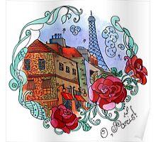 Watercolor Paris Poster