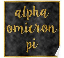 Alpha Omicron Pi Gold and Black Poster