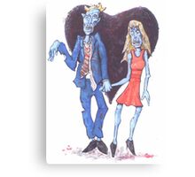 Zombies in Love Canvas Print