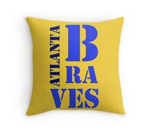 Atlanta Braves 5 Throw Pillow