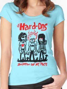 THE HARD ONS Surfin On My Face Women's Fitted Scoop T-Shirt