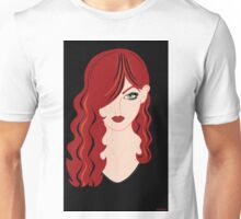 Red Haired Woman Unisex T-Shirt