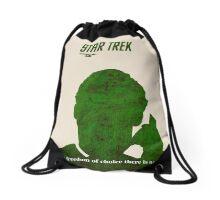 Green Star Trek Communication Drawstring Bag