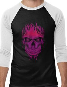 Flame Skull - Hot Pink (2) T-Shirt