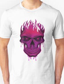 Flame Skull - Hot Pink (2) T-Shirt