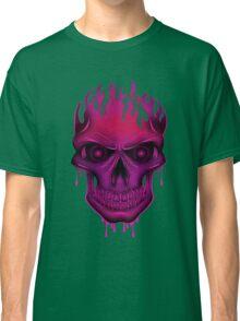 Flame Skull - Hot Pink Classic T-Shirt
