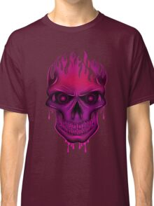 Flame Skull - Hot Pink Classic T-Shirt