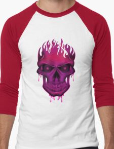 Flame Skull - Hot Pink T-Shirt