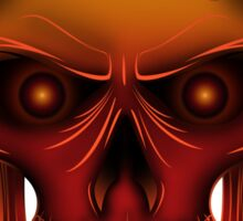 Flame Skull Sticker