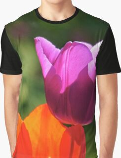 Tulips red and violet (Tulpen) Graphic T-Shirt