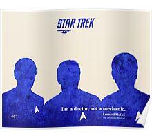 Star Trek Blue silhouettes Poster