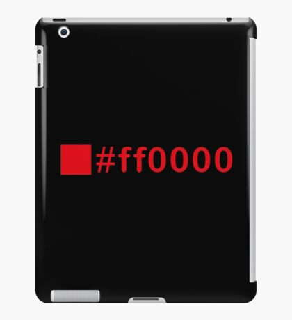 Colour Red #ff0000 iPad Case/Skin
