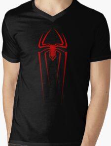 SPIDERMAN  / LOGO - Drawing Mens V-Neck T-Shirt