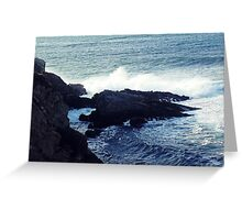 Water Splashing Greeting Card