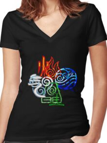 ELEMENTS Women's Fitted V-Neck T-Shirt