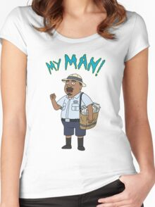 My Man! Women's Fitted Scoop T-Shirt