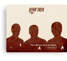 Red Star Trek, Kirk Canvas Print