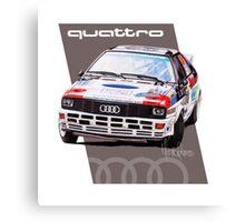 Audi Quattro Rally Drawing - Warm Canvas Print