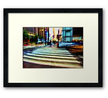 Twilight NYC Abstract Framed Print
