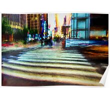 Twilight NYC Abstract Poster