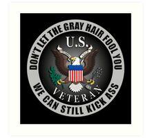 Gray Haired Veteran Art Print