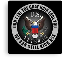 Gray Haired Veteran Canvas Print