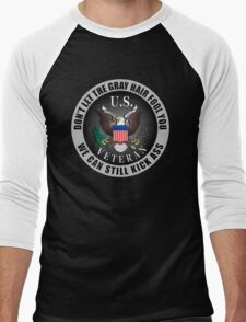Gray Haired Veteran Men's Baseball ¾ T-Shirt