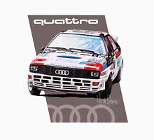 Audi Quattro Rally Drawing - Warm Womens Fitted T-Shirt