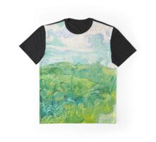 Green Wheat Fields Auvers Van Gogh Fine Art Graphic T-Shirt