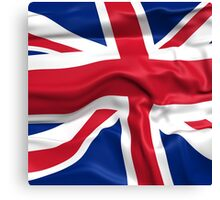 KRW Waving British Flag Canvas Print