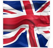 KRW Waving British Flag Poster