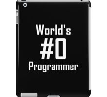 World's #0 Programmer iPad Case/Skin