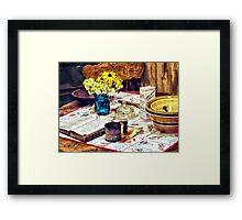 What's For Dinner Framed Print