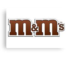 m&ms logo Canvas Print