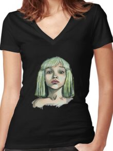 chandelier Women's Fitted V-Neck T-Shirt