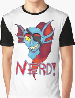 Undyne NERD! Graphic T-Shirt