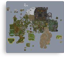 Runescape 2015 World Map Canvas Print