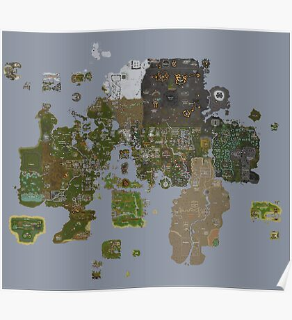 Runescape 2015 World Map Poster