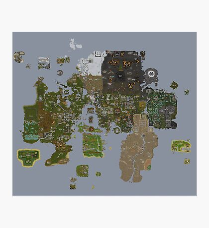 Runescape 2015 World Map Photographic Print