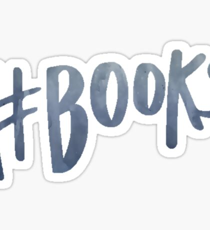 #Books   Watercolor Typography Tumblr/Trendy Sticker