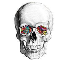 Trippy Skeleton Photographic Print