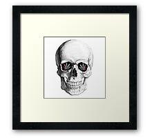 Weed Skeleton Framed Print