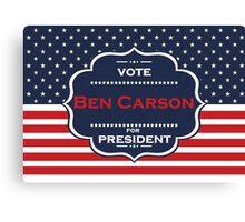 ben carson president Canvas Print