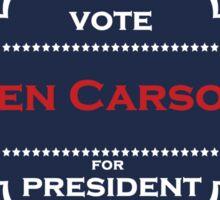 ben carson president Sticker
