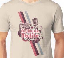 KRW Retro No Music No Life Unisex T-Shirt