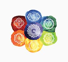 The 7 Chakras Flower Design Unisex T-Shirt